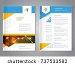 vector modern brochure with... | Shutterstock .eps vector #737533582