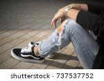 milan  italy   september 28 ... | Shutterstock . vector #737537752