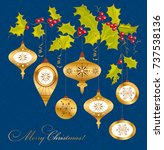 vintage christmas background... | Shutterstock .eps vector #737538136