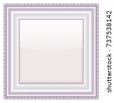 empty vintage frames on white... | Shutterstock .eps vector #737538142