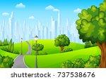 vector illustration of city... | Shutterstock .eps vector #737538676