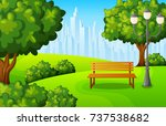 vector illustration of city... | Shutterstock .eps vector #737538682