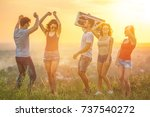 the five people dancing with a... | Shutterstock . vector #737540272