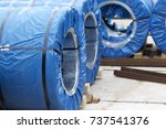rolls of cold rolled galvanized ... | Shutterstock . vector #737541376