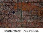 multicolor grunge background... | Shutterstock . vector #737543056