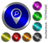 find gps map location icons on... | Shutterstock .eps vector #737543182