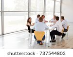 young business professionals in ... | Shutterstock . vector #737544802