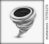isolated tornado in paper art... | Shutterstock .eps vector #737551276