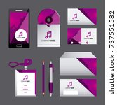 corporate identity template set ... | Shutterstock .eps vector #737551582
