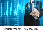investment concept hand with... | Shutterstock . vector #737552902