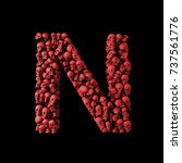 Letter N Red Skull Font. Type...