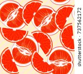 grapefruit. citrus. repeating... | Shutterstock .eps vector #737562172