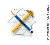 pencil cross ruler with...
