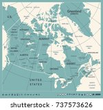 canada map   vintage detailed... | Shutterstock .eps vector #737573626
