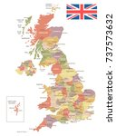 united kingdom vintage map and... | Shutterstock .eps vector #737573632