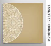 invitation or card template... | Shutterstock .eps vector #737578096