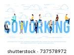 coworking. business concept... | Shutterstock .eps vector #737578972