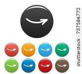 arrow icons set. simple...
