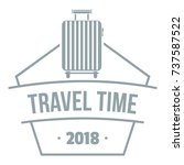 travel suitcase logo. simple... | Shutterstock .eps vector #737587522