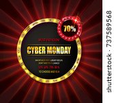 cyber monday sale sign template....   Shutterstock .eps vector #737589568