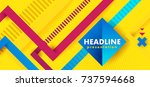 headline presentation abstract... | Shutterstock .eps vector #737594668