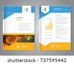 vector modern brochure with... | Shutterstock .eps vector #737595442