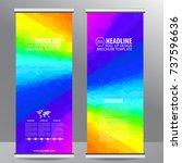 roll up business brochure flyer ...   Shutterstock .eps vector #737596636