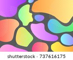 creative geometric colorful... | Shutterstock .eps vector #737616175