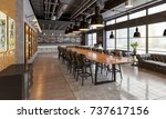 banqueting hall in the... | Shutterstock . vector #737617156