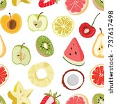 seamless texture with fruits.... | Shutterstock .eps vector #737617498