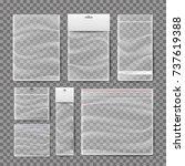 transparent plastic pocket bags ...   Shutterstock .eps vector #737619388