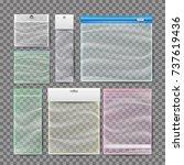 plastic pocket bags set vector. ... | Shutterstock .eps vector #737619436