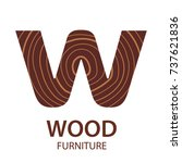 logo letter w  wood furniture.... | Shutterstock .eps vector #737621836