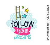 vector poster with phrase ... | Shutterstock .eps vector #737622025