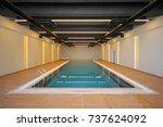 indoor pool | Shutterstock . vector #737624092