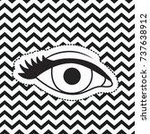 eye silhouette sticker on pop...   Shutterstock .eps vector #737638912