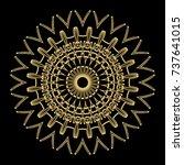 hand drawn gold mandala on a...   Shutterstock .eps vector #737641015