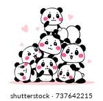 vector illustration of many...   Shutterstock .eps vector #737642215