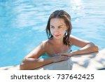 vietnam  nha trang. woman... | Shutterstock . vector #737642425