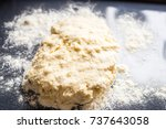 dough for english scones on the ... | Shutterstock . vector #737643058