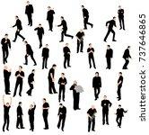 silhouette of men go | Shutterstock .eps vector #737646865