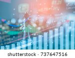 investment leadership concept   ... | Shutterstock . vector #737647516