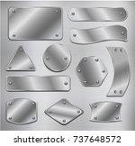 vector set of metal plates