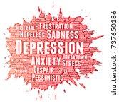 vector conceptual depression or ...   Shutterstock .eps vector #737650186