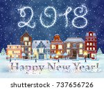 happy new year and merry... | Shutterstock .eps vector #737656726