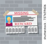wanted person paper poster.... | Shutterstock .eps vector #737659606