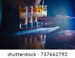 preparation of shots cocktails. ... | Shutterstock . vector #737662792