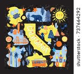 california emblem   tourist... | Shutterstock .eps vector #737664292