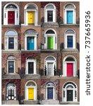 georgian doors   dublin  ireland | Shutterstock . vector #737665936