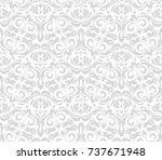 floral pattern. wallpaper... | Shutterstock .eps vector #737671948
